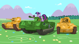 Equestrian Tank Army by MrScroup