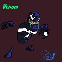 Venom Smiley by cheddarpaladin