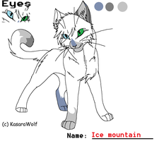 New warrior cat: Icemount by WILFRE-IS-AWESOME
