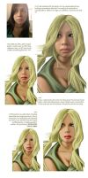 Tutorial: CG Portrait: Tsunade by ladyfish