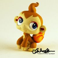 Chimchar Pokemon custom LPS by thatg33kgirl