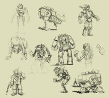 Buncha Steampunk Concepts by AmazingTrout