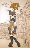 Bookcase debacle by Lelpel