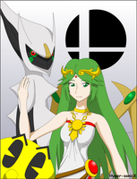Smash Bros - Palutena, Arceus and Pac-Man by LucarioShirona