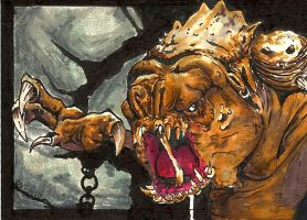 Rancor Sketch Card by biomechanoid56