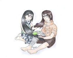 Neji and... Kin...? by Huudel