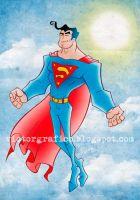 Superman Sunny Day by victorgrafico