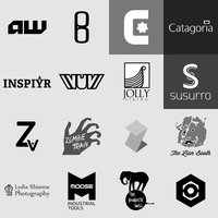 Logo Portfolio 2014 - Monochrome by WintersRead