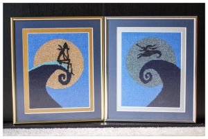 Nightmare Before Christmas Needlepoint by FunkBlast