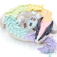 Rainbow Feather Dragon Dice Holder by Bon-AppetEats