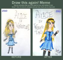 Draw This Again Meme: Alice by SapphyreEdge72395