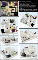 Layout - Night Vale Apartment by ErinPtah