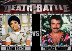 Death Battles: Ponch Vs. Magnum by MrAngryDog
