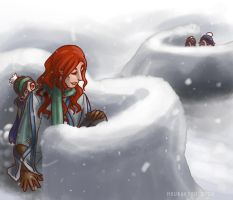 LotR/S: Snowball Fights by Houkakyou