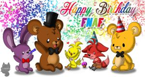 Happy Birthday FNAF! by Amanddica