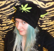 Weed Leaf Kitty Hat Pot Cat by HatcoreHats