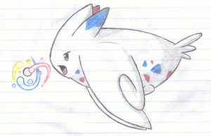 Togekiss Tri attack by Baljet