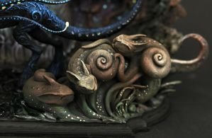 Snailcats - detail of Owner of the Black Forest by hontor