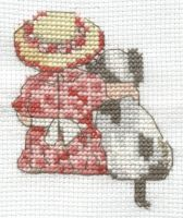 All Our Yesterdays girl and dog cross stitch by Lil-Samuu