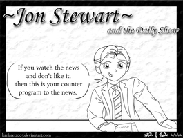 Jon Stewart and the Daily Show by karlarei2003