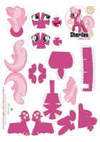Cheerilee Papercraft pattern by Kna