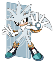 Silver the hedgehog - colored by Marxhog