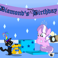 Diamond and Dazzle: Dazzle's Birthday by MagerBlutooth
