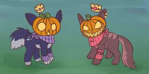 Pumpkin Heads!! by lunumi