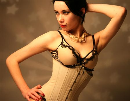 Nude Corset by TimelessTrends