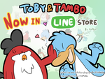 Toby and Tambo Stickers by Coffgirl