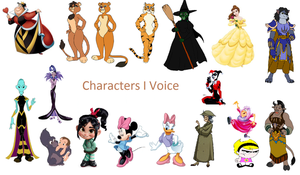 Characters I Voice by DreamsCanComeTrue67