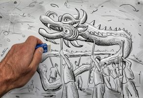 Quick Sketch for Chinese New Year by BenHeine