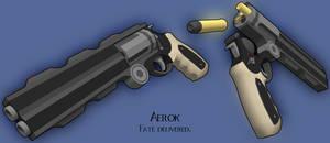 Aerok - Double Barrel Revolver by MicahDC