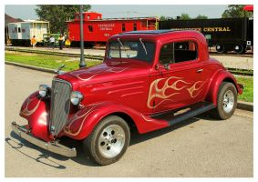 A Red Chevy Street Rod by TheMan268