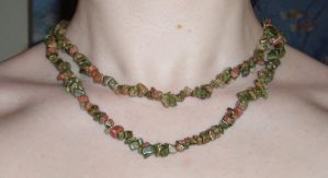 Unakite Necklace 1 by Lost-in-the-day