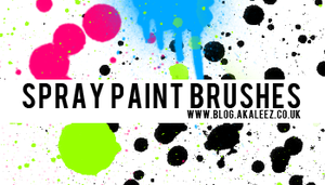 Spray paint splats IMAGEPACKS by akaleez88
