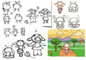 game character design - sheep by Amedyr