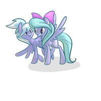 Flitter and Cloudchaser by PonyGoggles