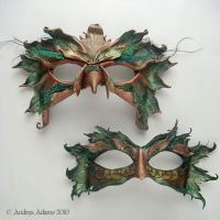 Leather Bird Masks by Beadmask