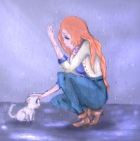 inoue orihime,bleach,dog by milkywaylovetoo
