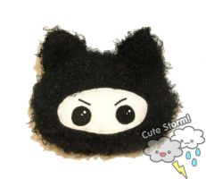 Ninja kitty pillow plushie by The-Cute-Storm