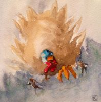 Wild Turkey #art #thanksgiving #silly by SylvanCreatures