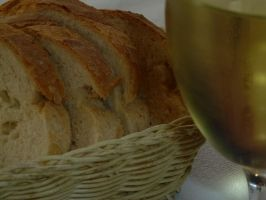White Bread And White Wine by Luna-Caillean