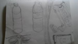 A few still life sketches and a doodle by Mannyhaatz