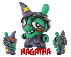 Dunny Monster : Painted Hagatha by zombiemonkie