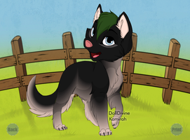 pup wolf link by xion9299