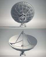 Radio Telescope | back - front by abdelrahman