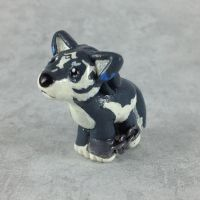Mini Wolf Link Sculpture by LeiliaClay