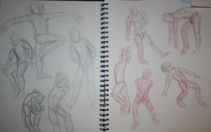 Oct 22 - Gesture Day in Life Drawing by MangaGirlNum6