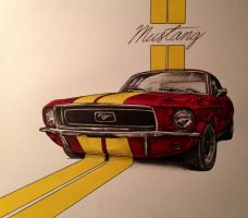 Candy Apple '67 Stang by JonOwens